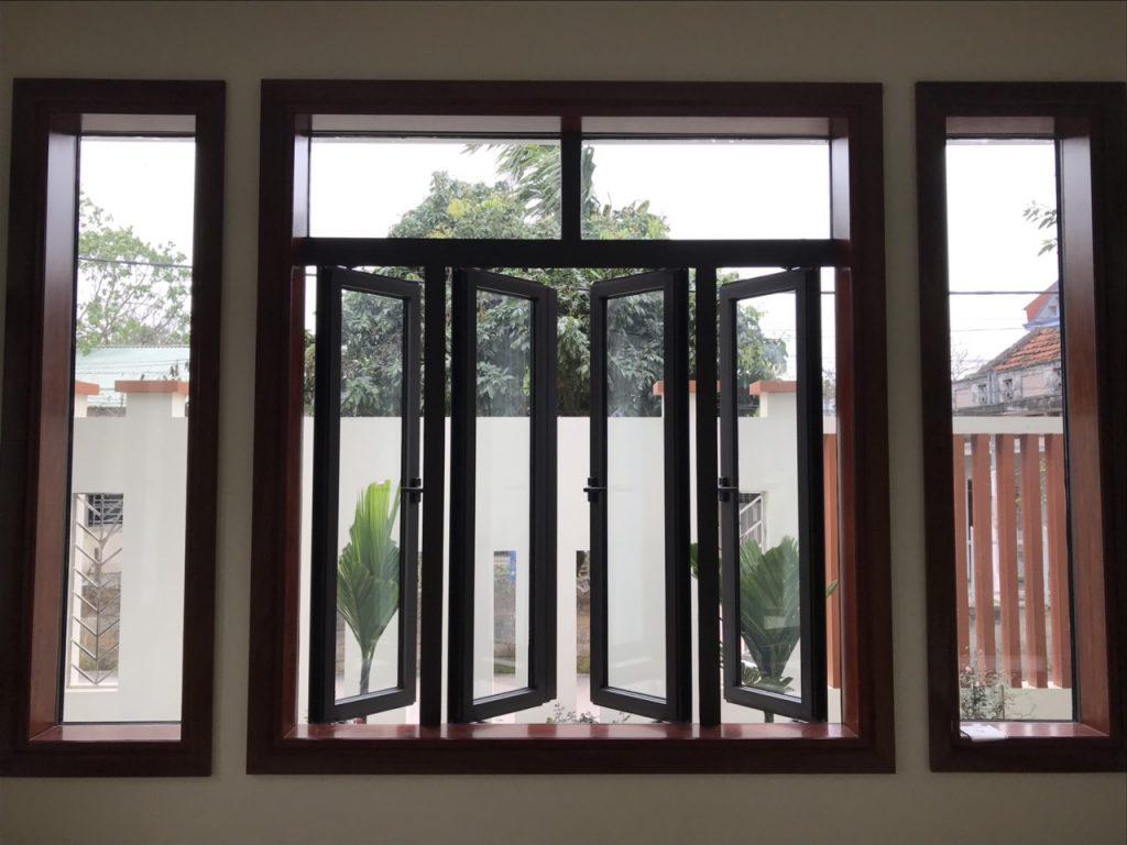 Cửa Sổ Mở Quay 4 Cánh Nhôm XINGFA Hệ 55 | www.XINGFA.vn