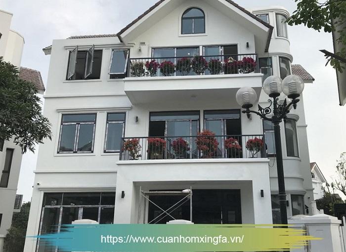 Cửa nhôm Xingfa thi công bởi Thủ Đô Group tại Sài Đồng, Long Biên, Hà Nội