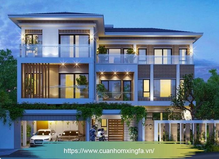 Cửa nhôm Xingfa thi công bởi Thủ Đô Group tại TP. Móng Cái, Quảng Ninh