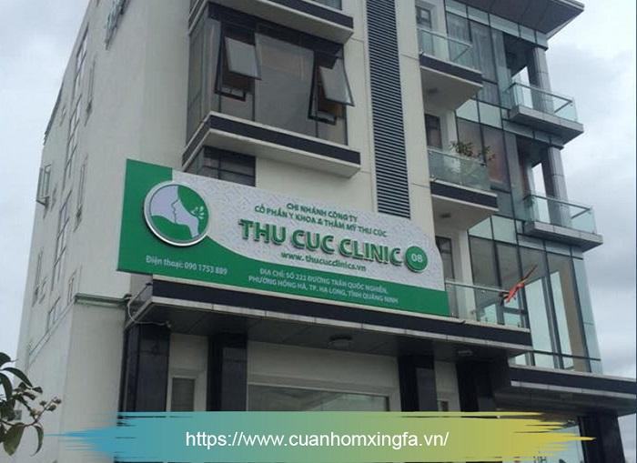 Cửa nhôm Xingfa thi công bởi Thủ Đô Group tại Bệnh viện Thu Cúc, TP. Hạ Long, Quảng Ninh