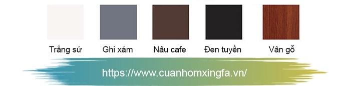 Cửa nhôm Xingfa nhập khẩu chính hãng với 5 màu cơ bản