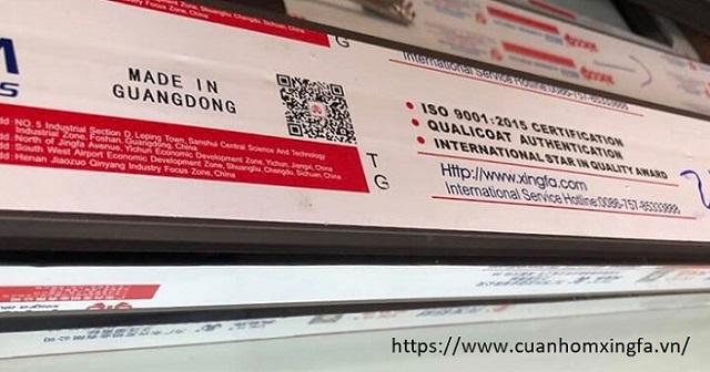 Nhôm Xingfa nhập khẩu chính hãng 100% mới nhất hiện nay
