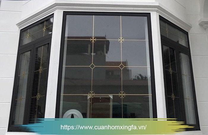 Cửa nhôm Xingfa dùng kính hộp 2 lớp hút chân không (cửa sổ)