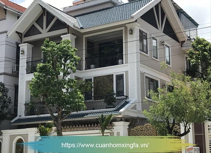 Cửa nhôm Xingfa thi công bởi Thủ Đô Group tại Thành phố Bắc Ninh