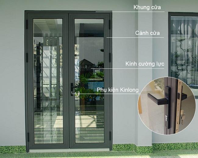 Cơ cấu sản phẩm cửa nhôm Xingfa kính cường lực